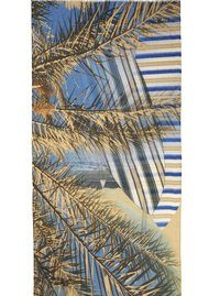 Becksondergaard W-Raidaa cotton scarf- Spring Blue