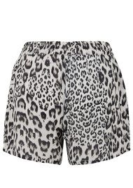 Lily and Lionel Lani Leopard Print Shorts - Monochrome