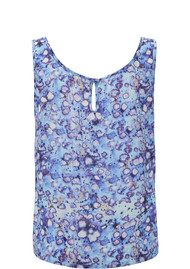 Lily and Lionel Celeste Printed Tank Top - Blue