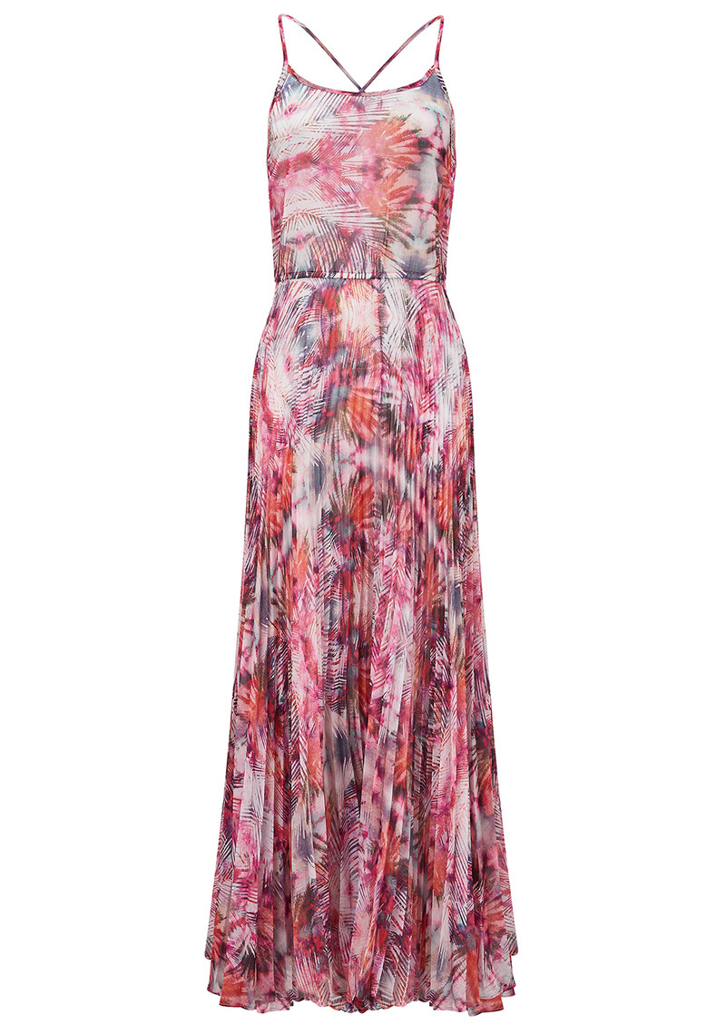 Lily and Lionel Iris Pleated Maxi Dress - Coral main image