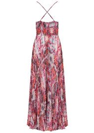 Lily and Lionel Iris Pleated Maxi Dress - Coral
