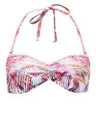 Lily and Lionel Iris Plait Bikini Top - Coral