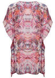 Lily and Lionel Iris Printed Kaftan - Coral