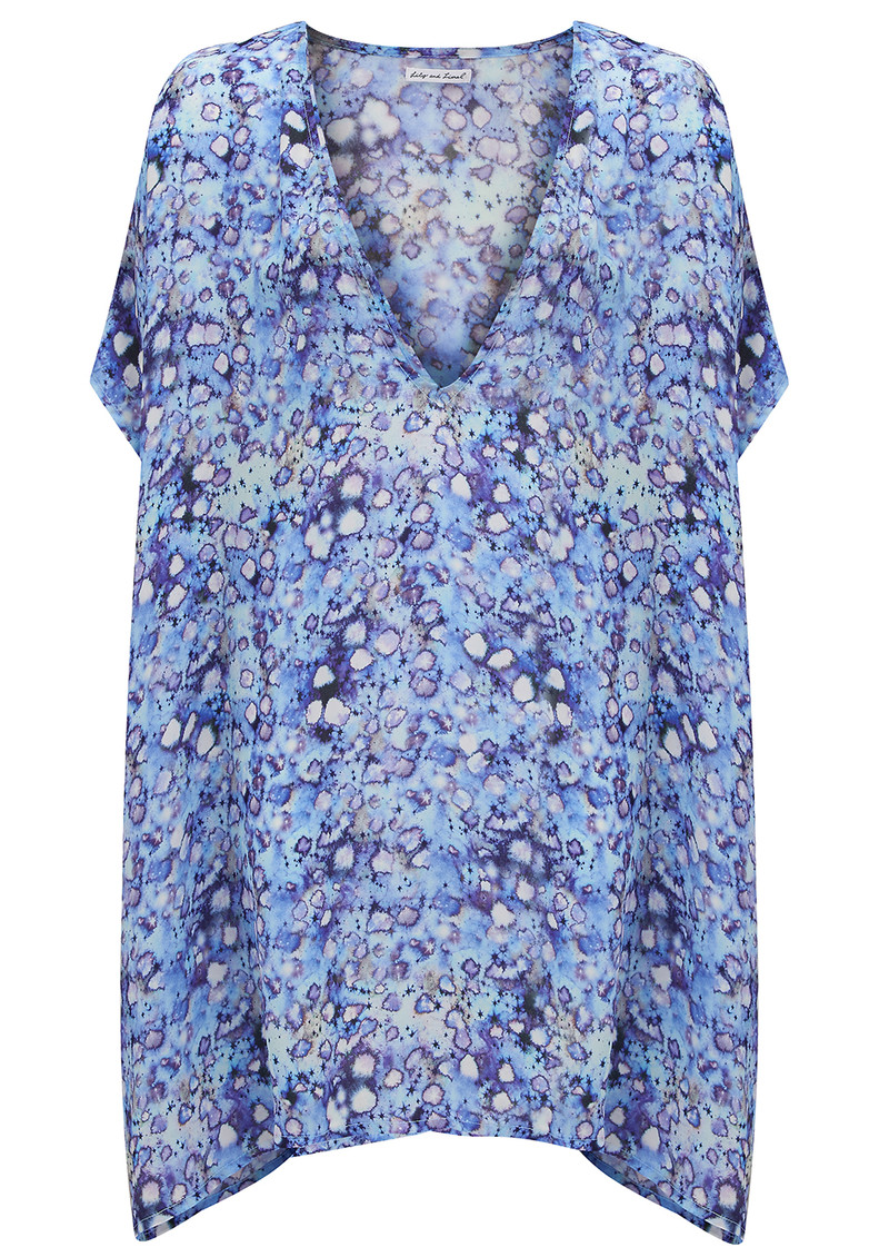Lily and Lionel Celeste Printed Kaftan - Blue main image
