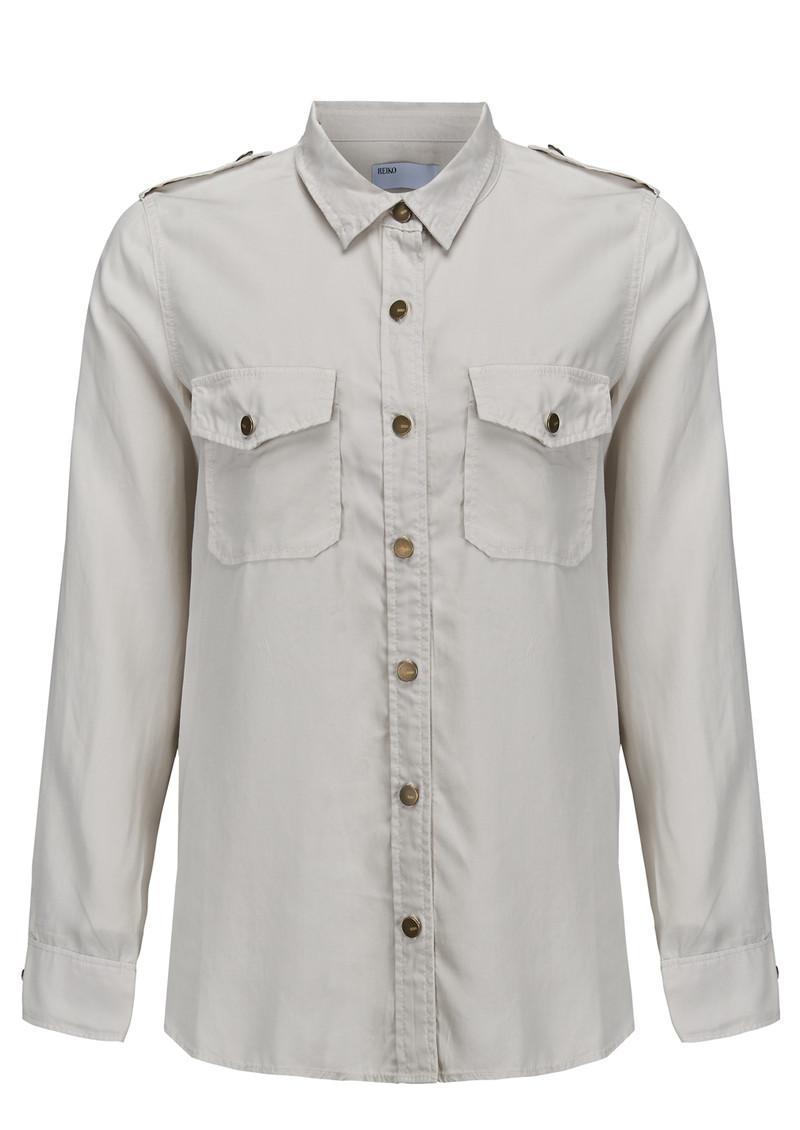 REIKO Claryss Shirt - Craie main image