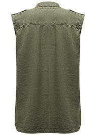 REIKO Chiara Sleeveless Shirt - Khaki