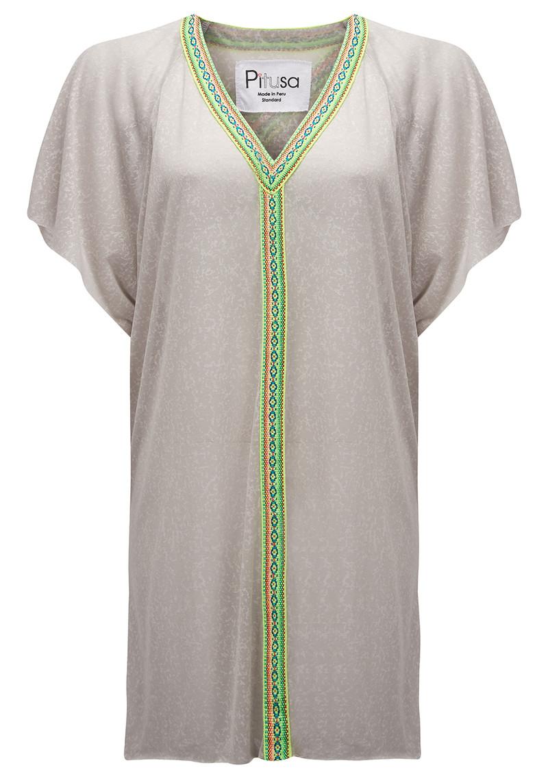 PITUSA Mini Abaya Dress - Grey main image