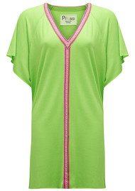 PITUSA Mini Abaya Dress - Lime