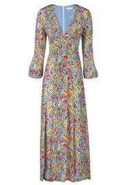 RIXO Camelia Floral Dress - Blue Bloom