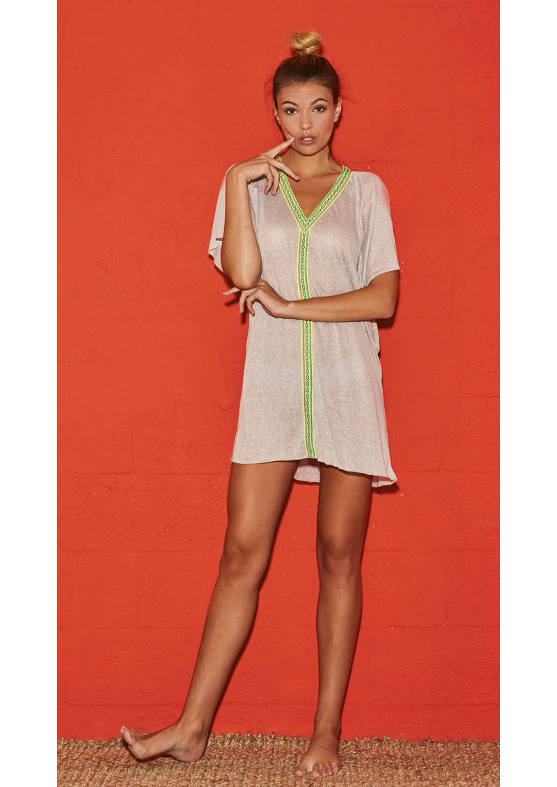 PITUSA Mini Abaya Dress - Coral main image