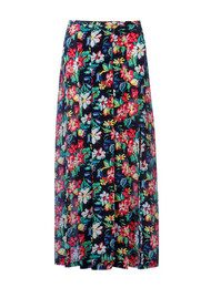 RIXO Georgia Floral Midi Skirt - Black Bloom