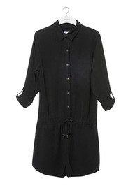 REIKO Carly Long Sleeve Playsuit - Black