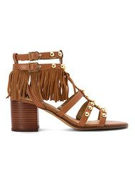 Sam Edelman Shaelynn Fringe Sandals - Saddle