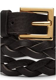 Black & Brown  Jessie Plaited Belt - Black