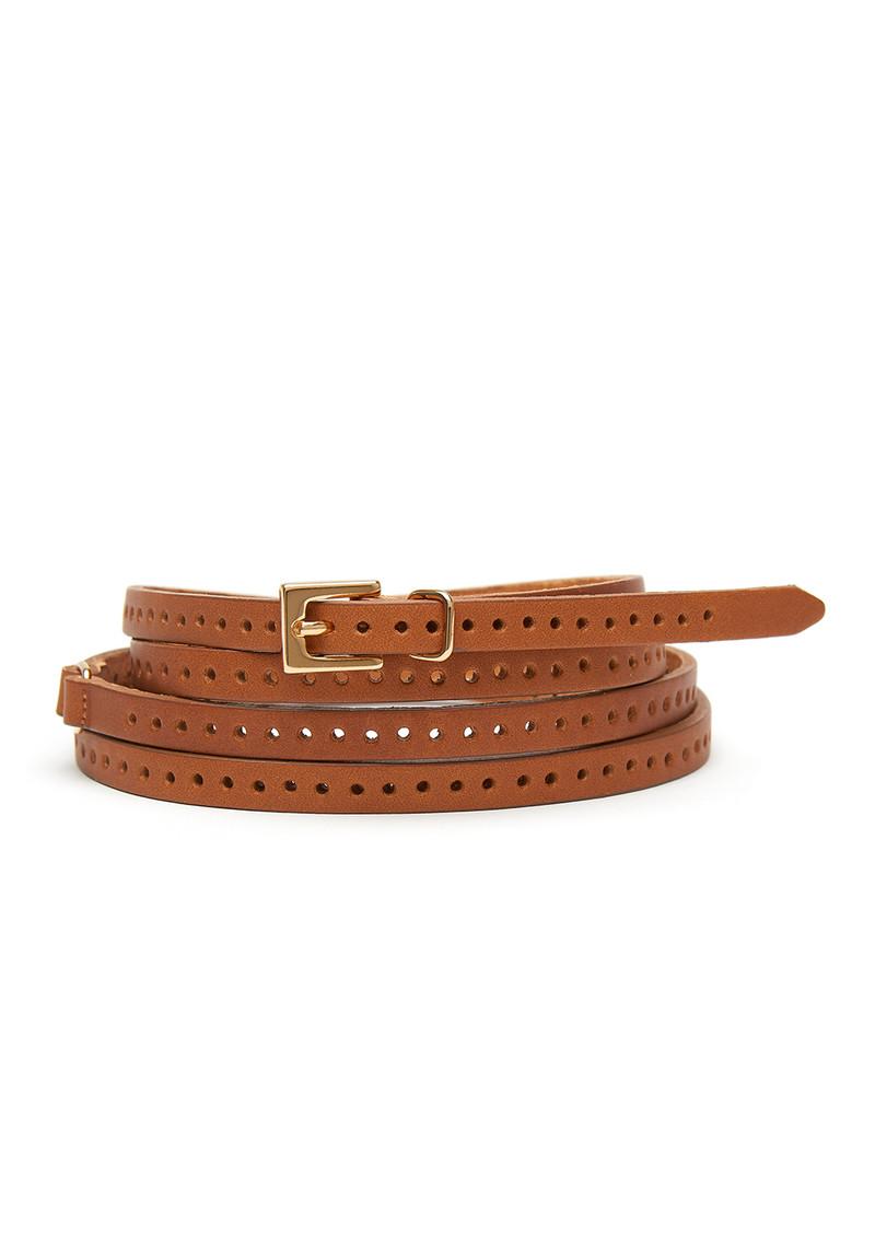 Black & Brown  Orla Double Wrap Belt - Tan main image