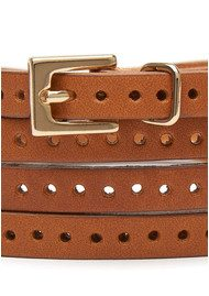 Black & Brown  Orla Double Wrap Belt - Tan