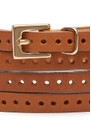 Black & Brown  Orla Double Wrap Belt - Tan