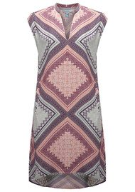 CHARLIE JADE Geometric Printed Dress - Blue & Rose