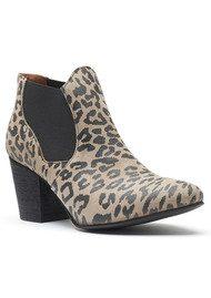 A COPENHAGEN Celine Suede Boot - Leopard Taupe