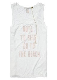 Maison Scotch Burnout Beach Tank - Off White
