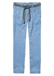 Maison Scotch Dolly Belted Pants -Sky Blue