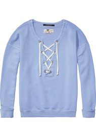 Maison Scotch Sailor Sweater - Powder Blue