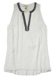 Maison Scotch Lightweight cotton top - Off White