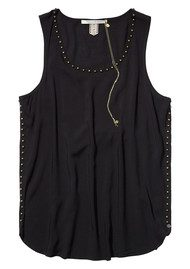 Maison Scotch Studded Tank Top - Black