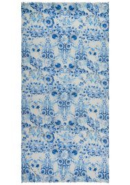 Lily and Lionel Luna Printed Scarf - Blue