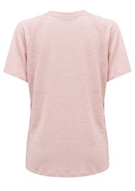 American Vintage Quincy V Neck Tee - Candy