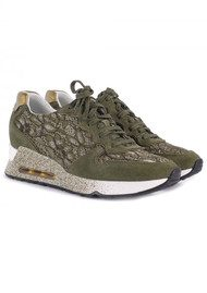 Ash Love Lace Trainers - Army & Gold