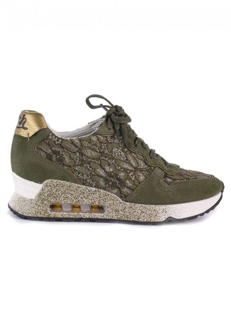 Ash Love Lace Trainers - Army & Gold main image