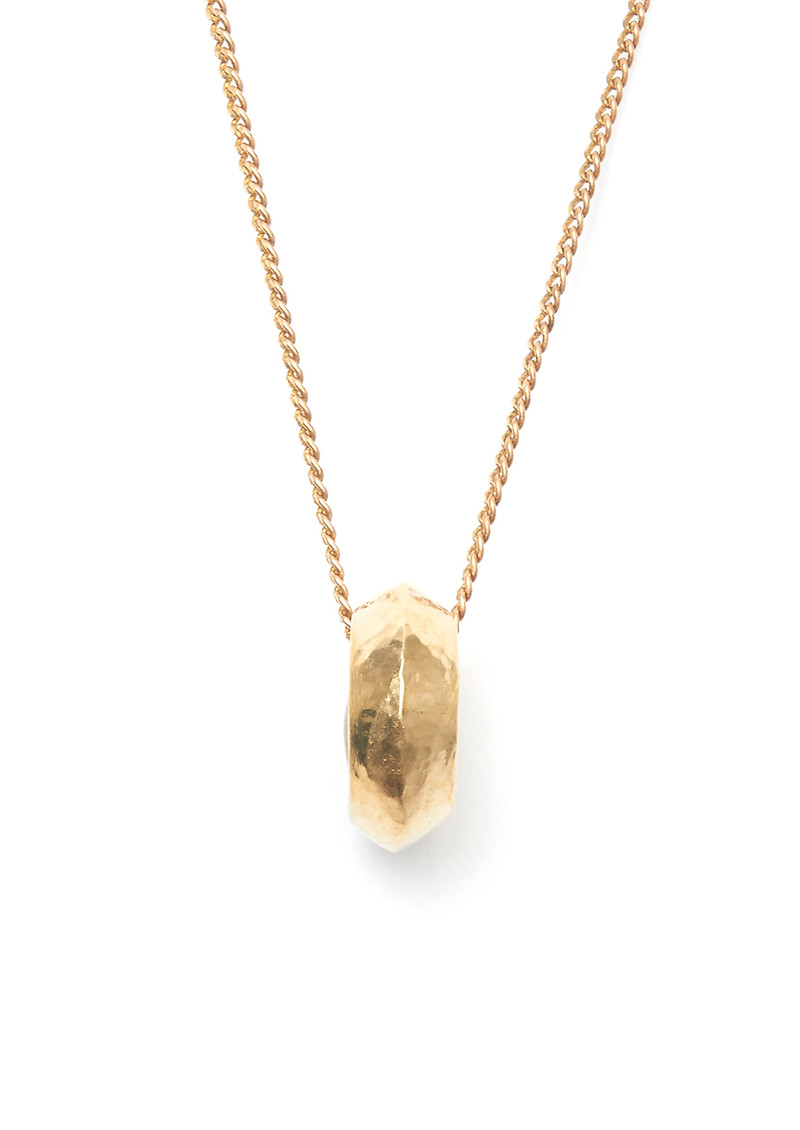 TRIBE + FABLE Classic Promise Ring Necklace - Gold main image