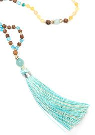 TRIBE + FABLE Single Tassel Necklace - Indian Ocean