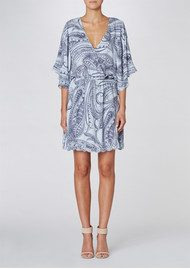 Twist and Tango Sarah Dress - Paisley Iron Blue