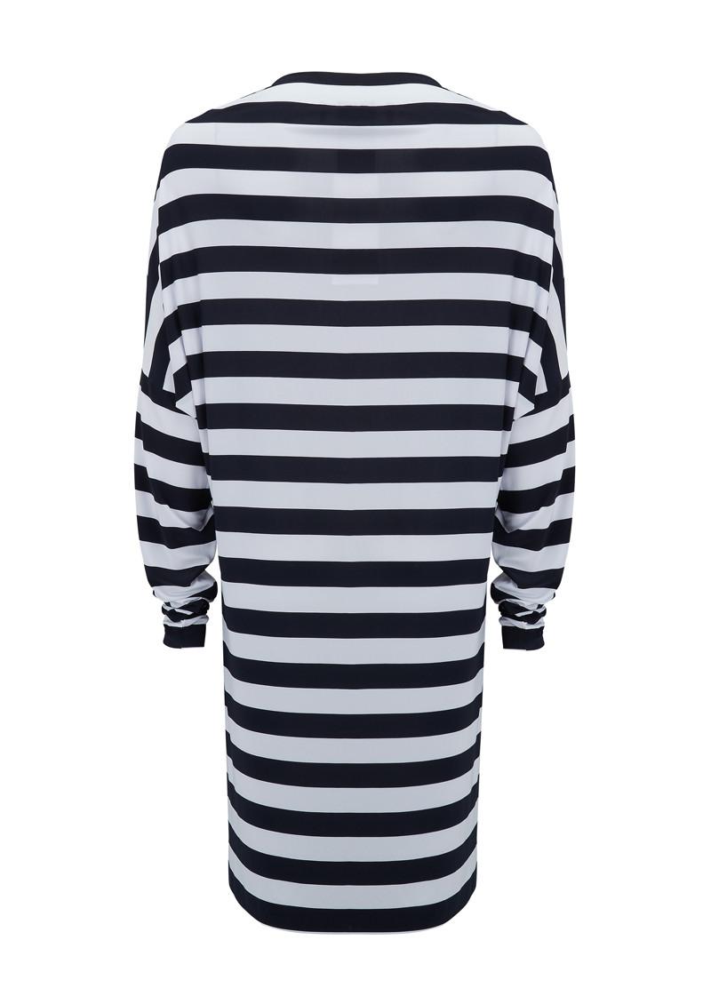 NORMA KAMALI All In One Dress - Midnight White Stripe main image