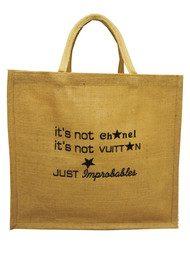 IMPROBABLES It's Not Chanel Jute Bag - Black