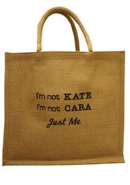 IMPROBABLES It's Not Kate Jute Bag - Black