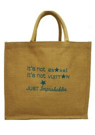 IMPROBABLES It's Not Chanel Jute Bag - Blue