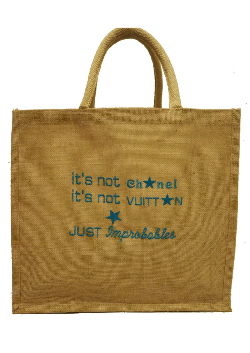 IMPROBABLES It's Not Chanel Jute Bag - Blue main image