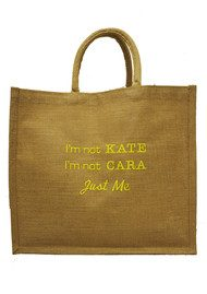 IMPROBABLES It's Not Kate Jute Bag - Yellow