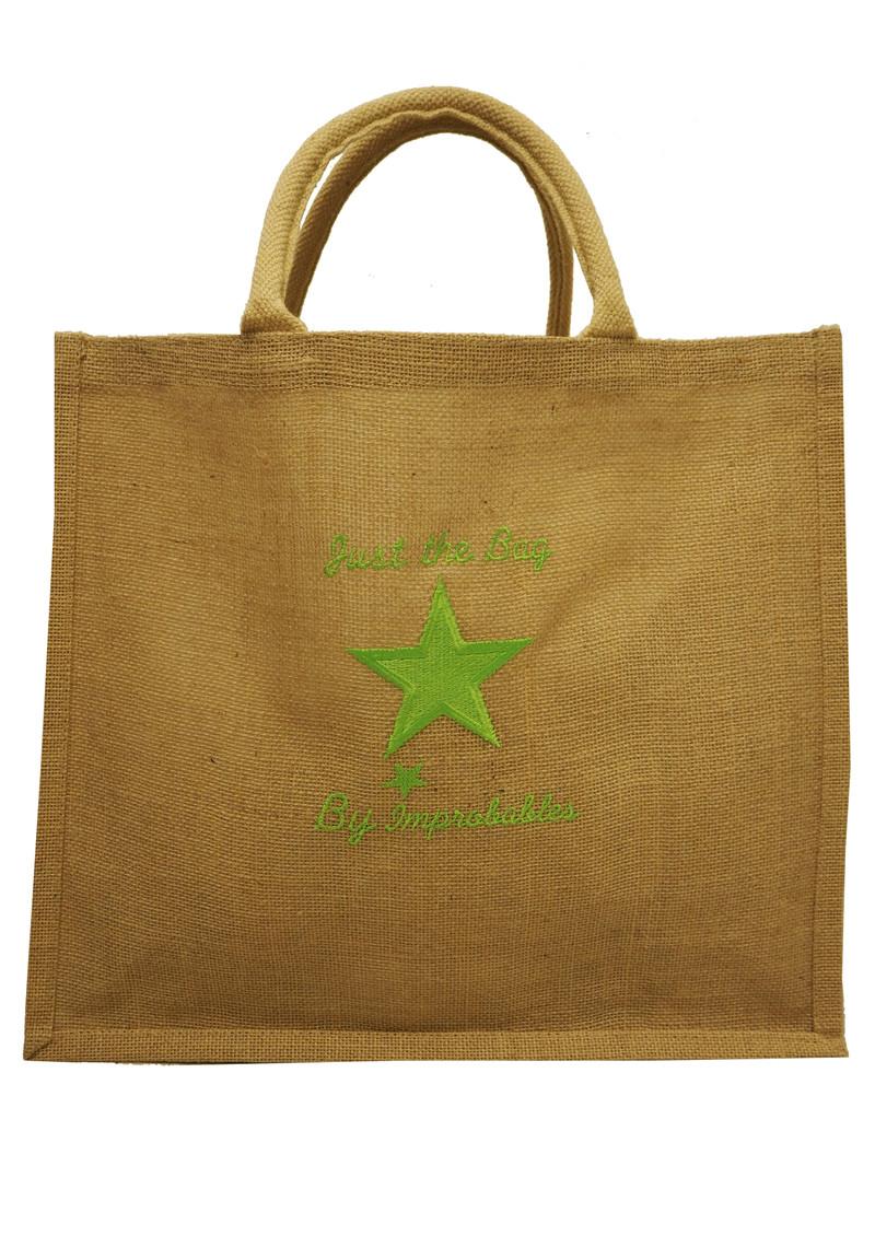 IMPROBABLES Just Saint Tropez Jute Bag - Green main image