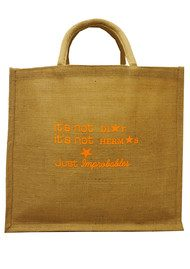 IMPROBABLES It's Not Dior Jute Bag - Orange