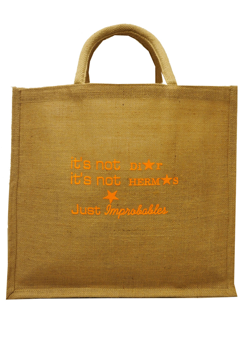 IMPROBABLES It's Not Dior Jute Bag - Orange main image