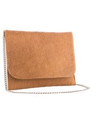 Black & Brown  Charlotte Clutch - Tan