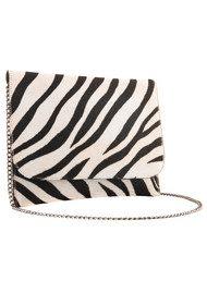 Black & Brown  Charlotte Clutch Bag - Zebra