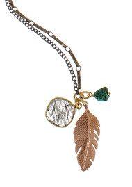 BRAVE LOTUS Brave Spirit Necklace - Rose Gold & Turquoise