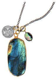 BRAVE LOTUS Dark Skies Necklace - Silver & Labradorite
