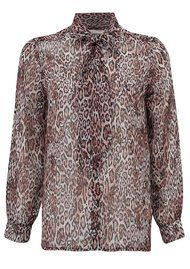 NEW LILY Steph Shirt Blouse - Leopard