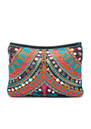 BLUE PEARL Sacs Perler Embellished Bag - Black & Orange